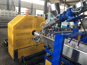 Testing finished for Brazil client's steel wire reinforced PVC hose extruder machine